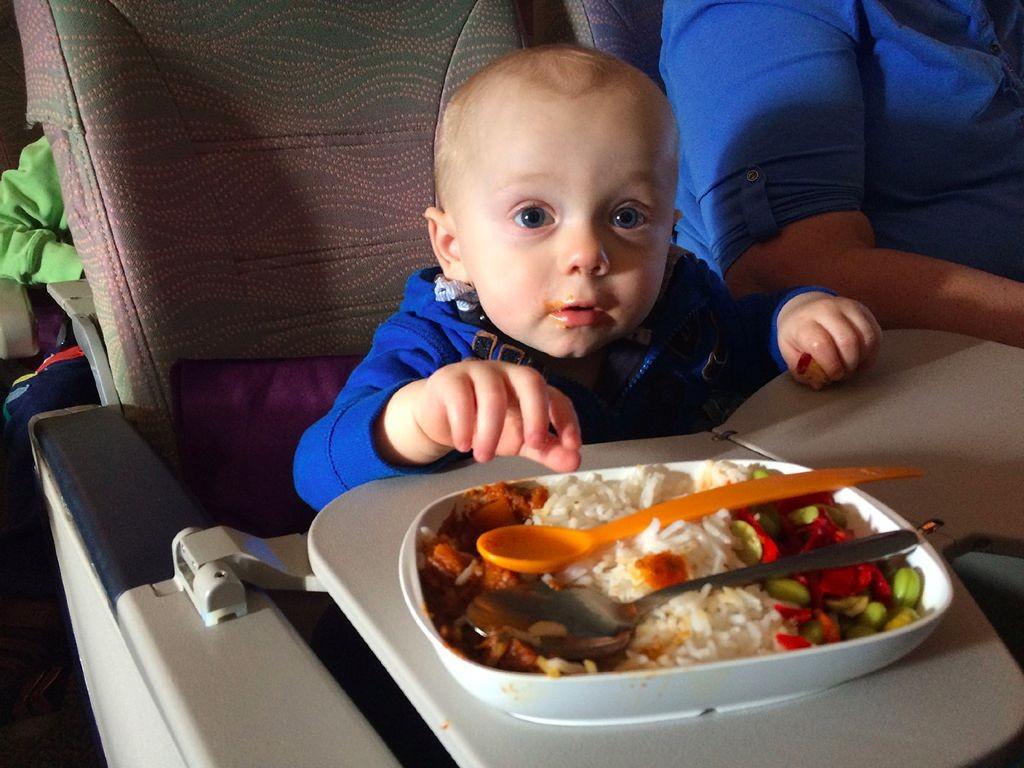 Fliegen mit Baby - essen