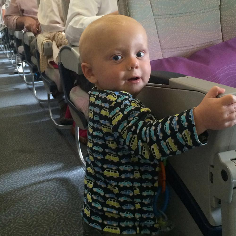 Fliegen mit Baby - ohne Sitzplatz