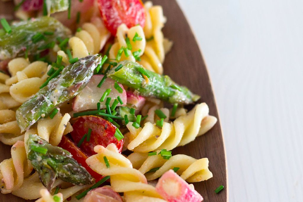 Nudelsalat mit gruenem Spargel 2