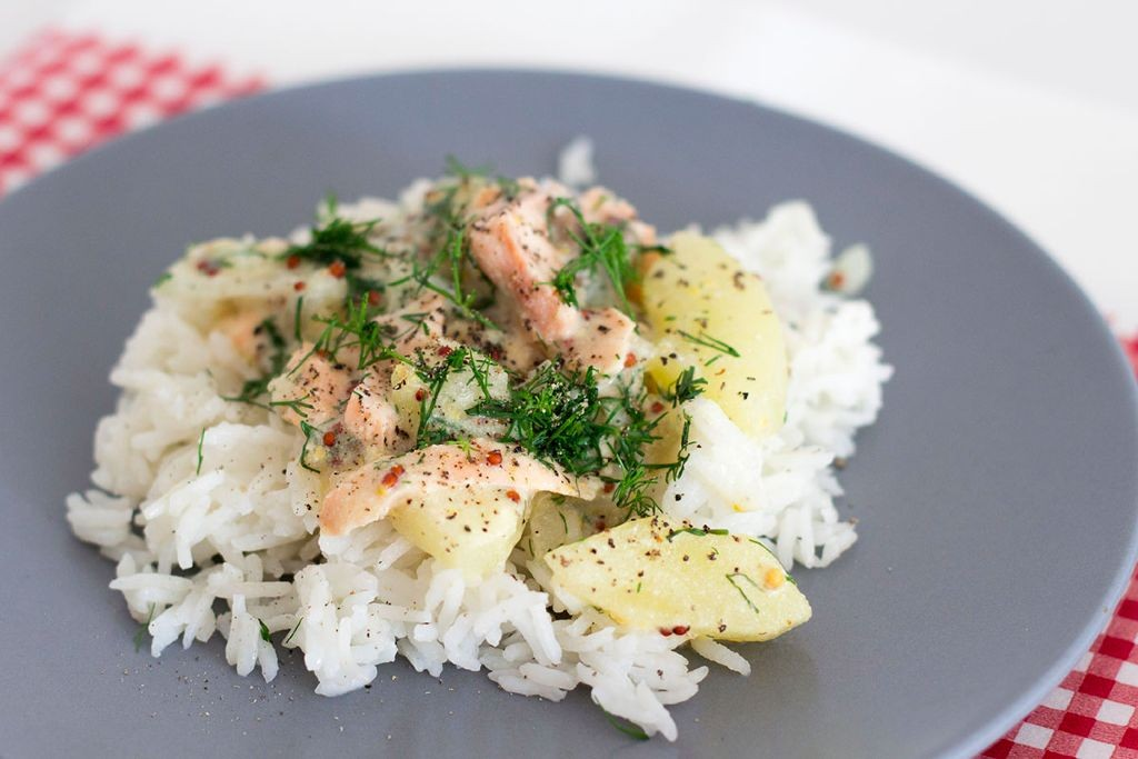 Lachs in Dill-Sahne-Sauce 2
