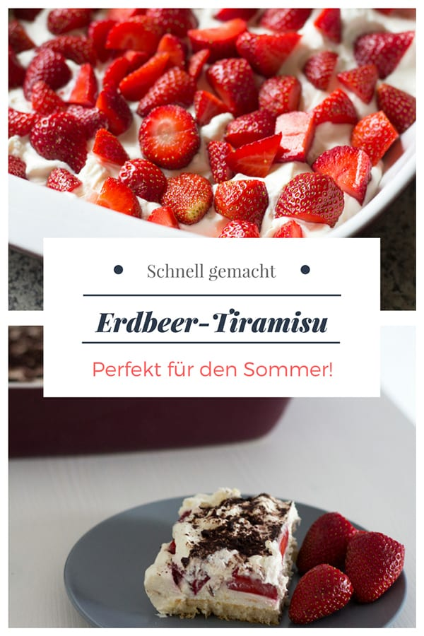 Rezept Erdbeer-Tiramisu ohne Ei und Alkohol