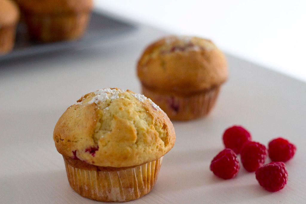 Saftige Himbeer Vanille Muffins