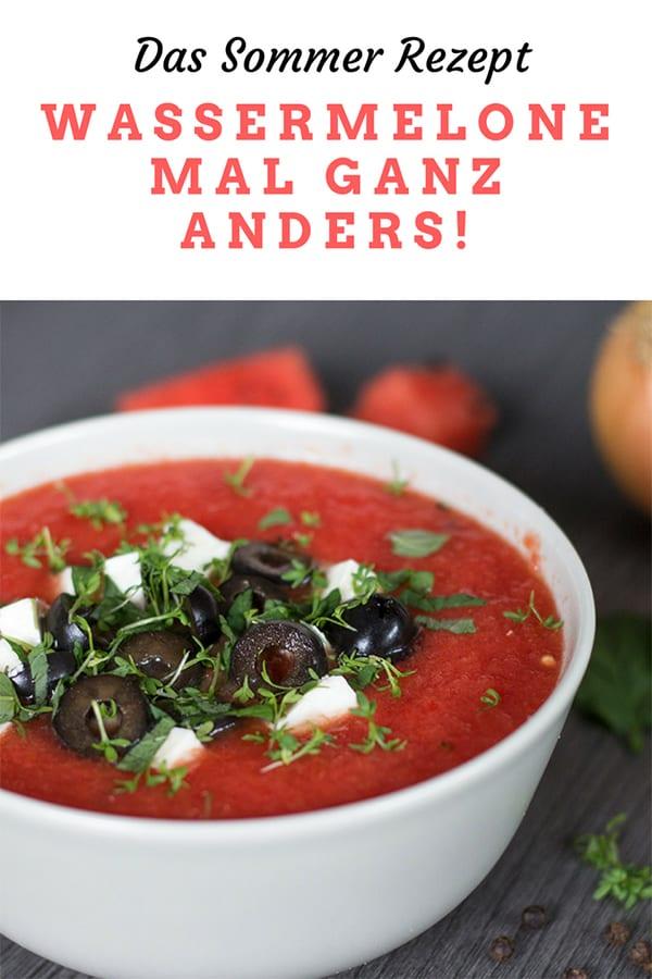 Wassermelonen Gazpach – ein herrlich erfrischendes Sommerrezept