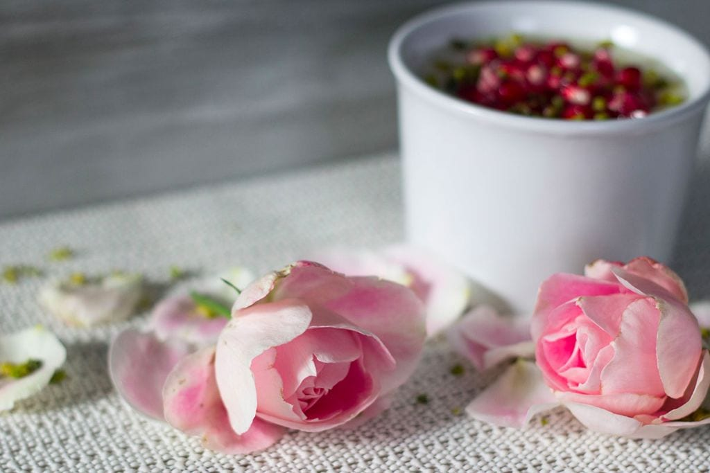 Rezept Pudding mit Rosenwasser