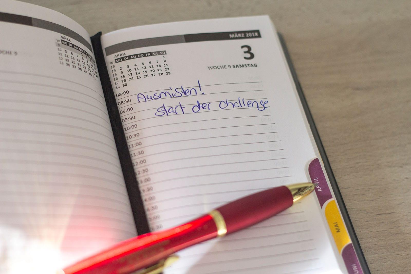 Ausmisten Challenge – plane deine große Ausmisten Aktion