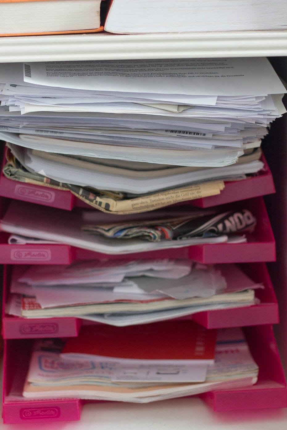 Ausmisten Challenge – Papiere aussortieren