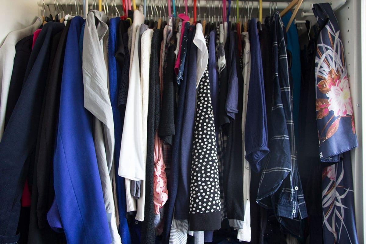 Richtigs ausmisten Tipps – der Kleiderschrank vorher