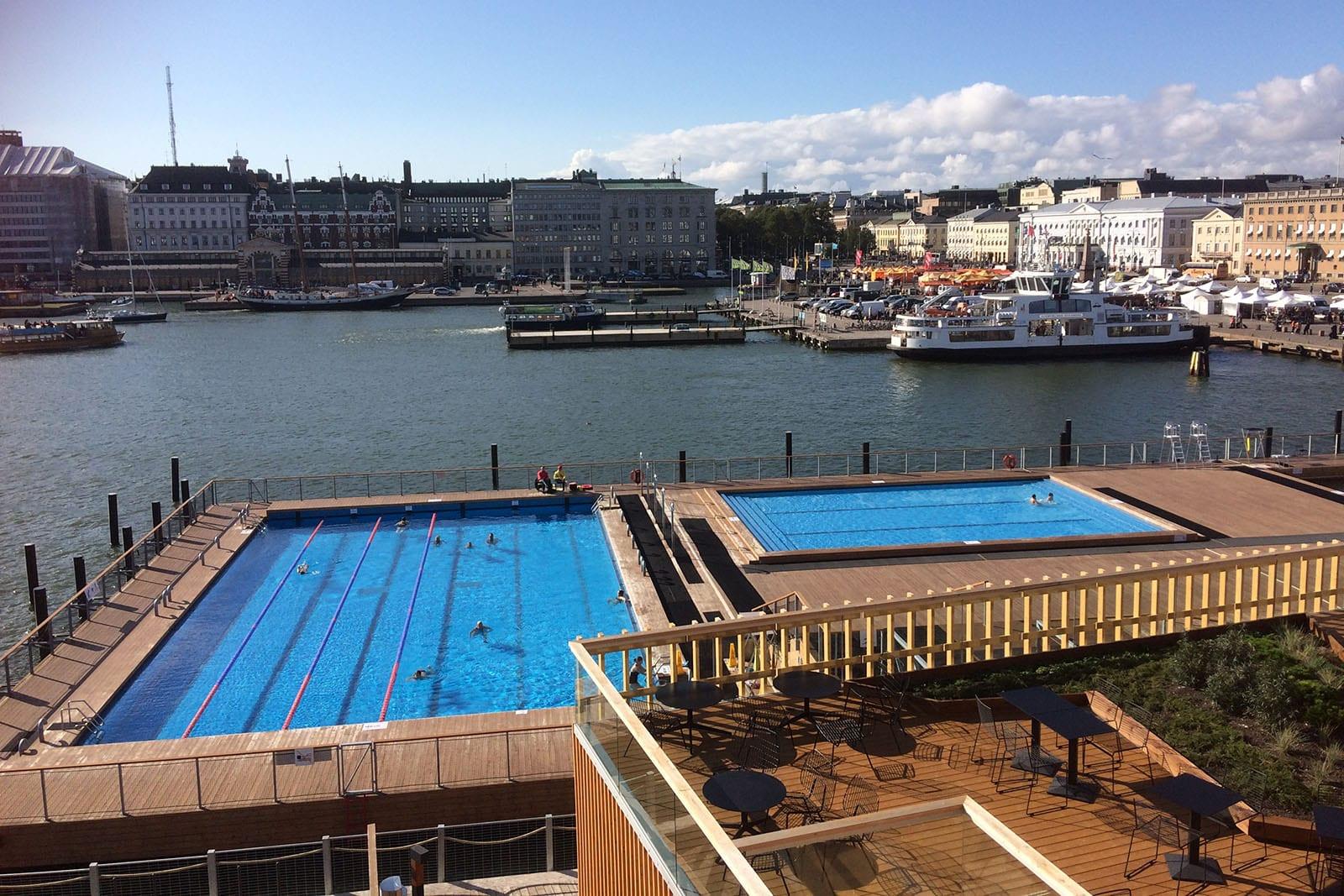 Städtereise Helsinki an inem Tag – der Ausblick von der öffentlichen Sauna ist wunderschön