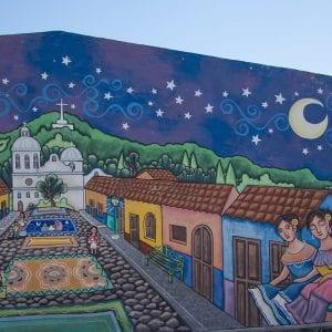 El Salvador Sehenwürdigkeiten & Highlights Hauswand in Apaneca