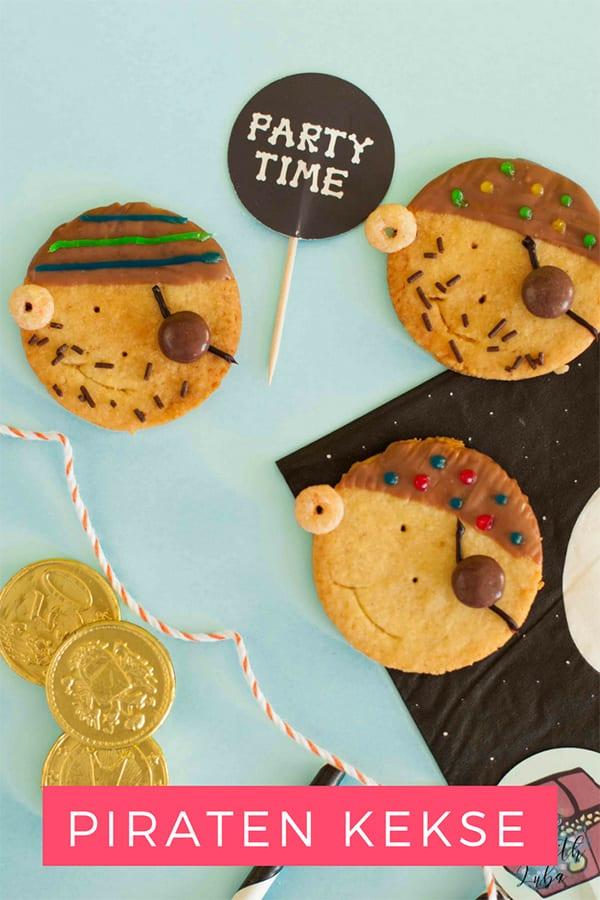 Rezept Piratenkekse für den Kindergeburtstag – Pin für Pinterest