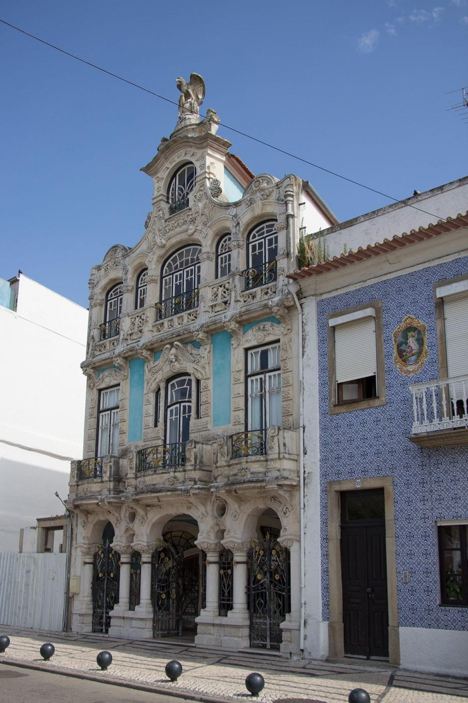 Portugal Aveiro Altstadt Haus im Jugendstil