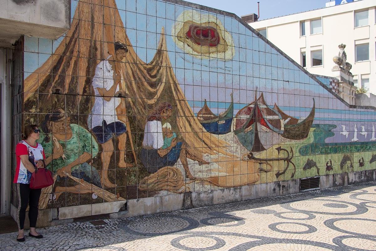 Portugal Aveiro Altstadt Azuelos