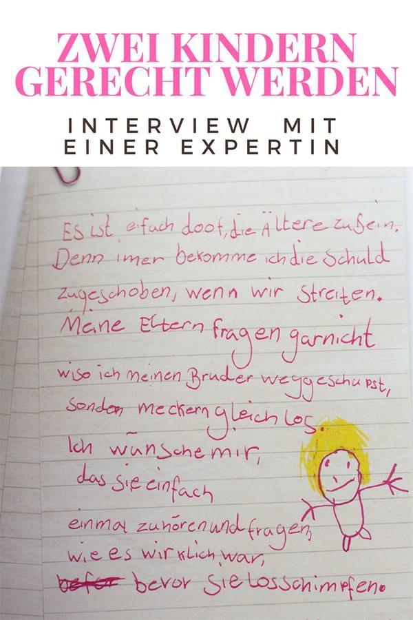 Zwei Kindern gerecht werden Interview – Pin für Pinterest