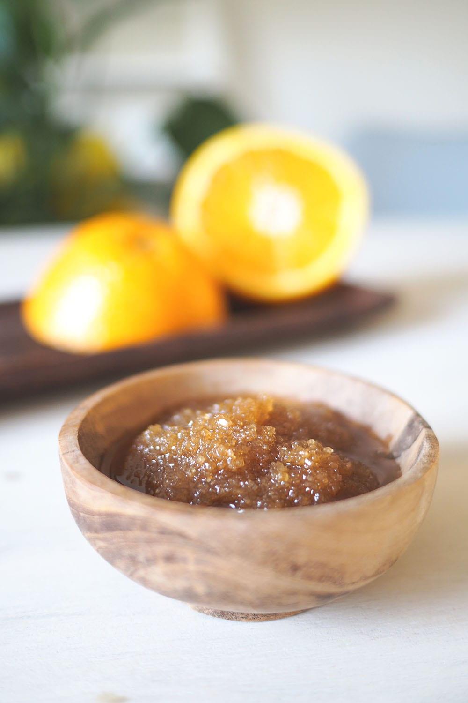 Lippenpeeling DIY Kokosöl mit Orangenduft