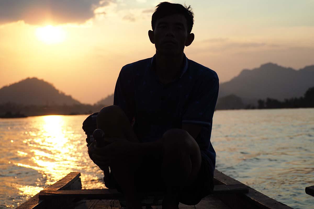 Individuelle Laos Reisen – Sonnenuntergang über dem Mekong 4000 Inseln in Südlaos