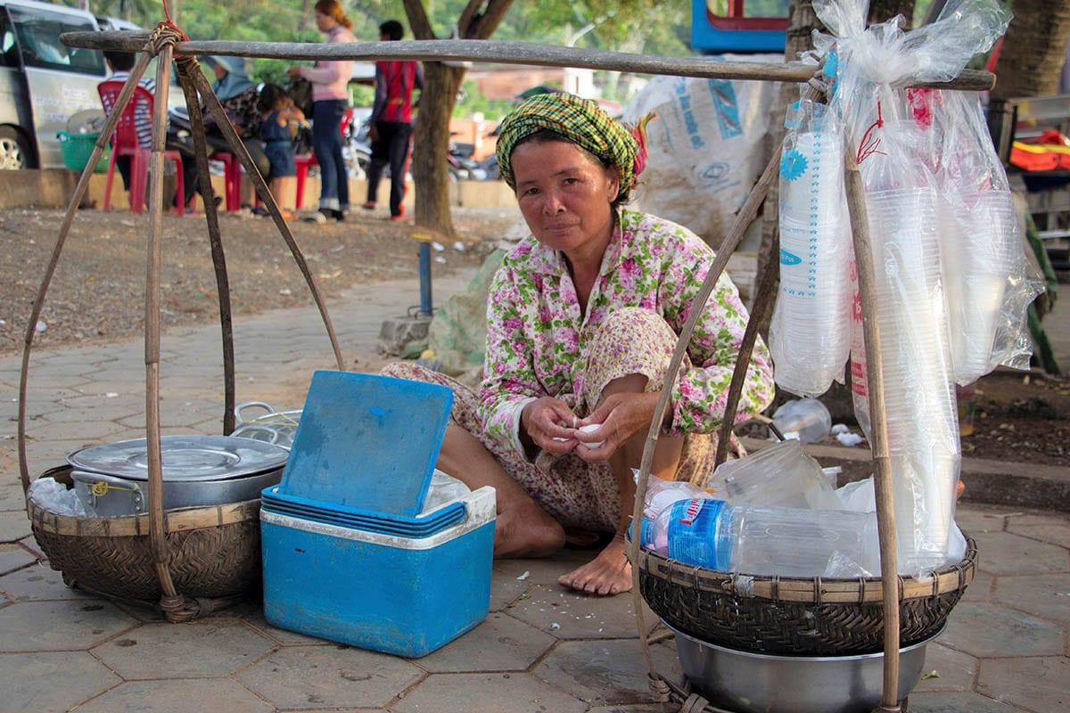 Die schönsten Kambodscha Sehenswürdigkeiten – auf dem Crab Market in Kep