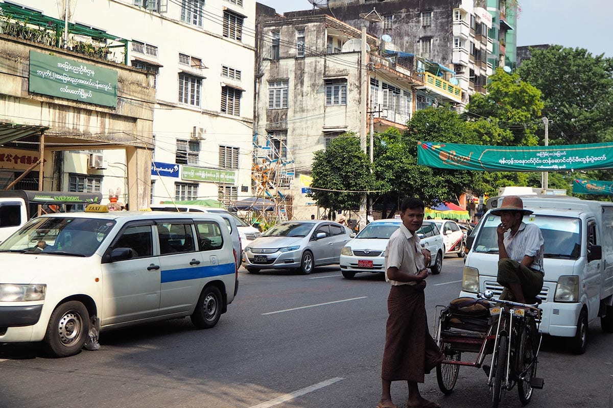 Unsere schönsten Myanmar Sehenswürdigkeiten: Downtown in Yangon