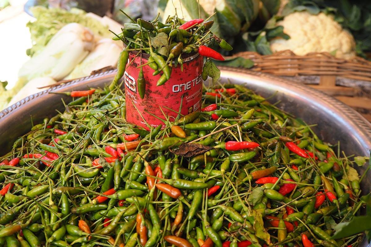 Unsere schönsten Myanmar Sehenswürdigkeiten: auf dem Markt in Kalaw