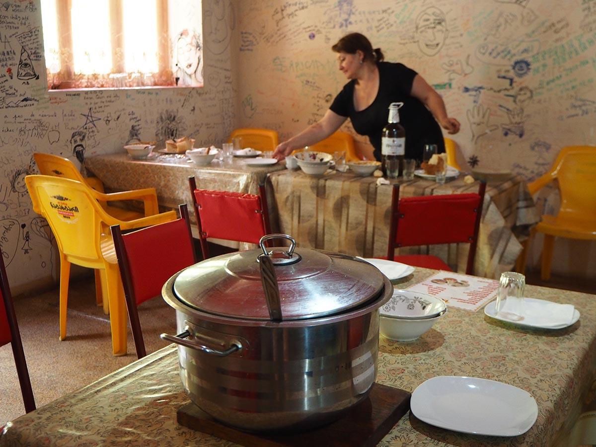 In einem georgischen Restaurant