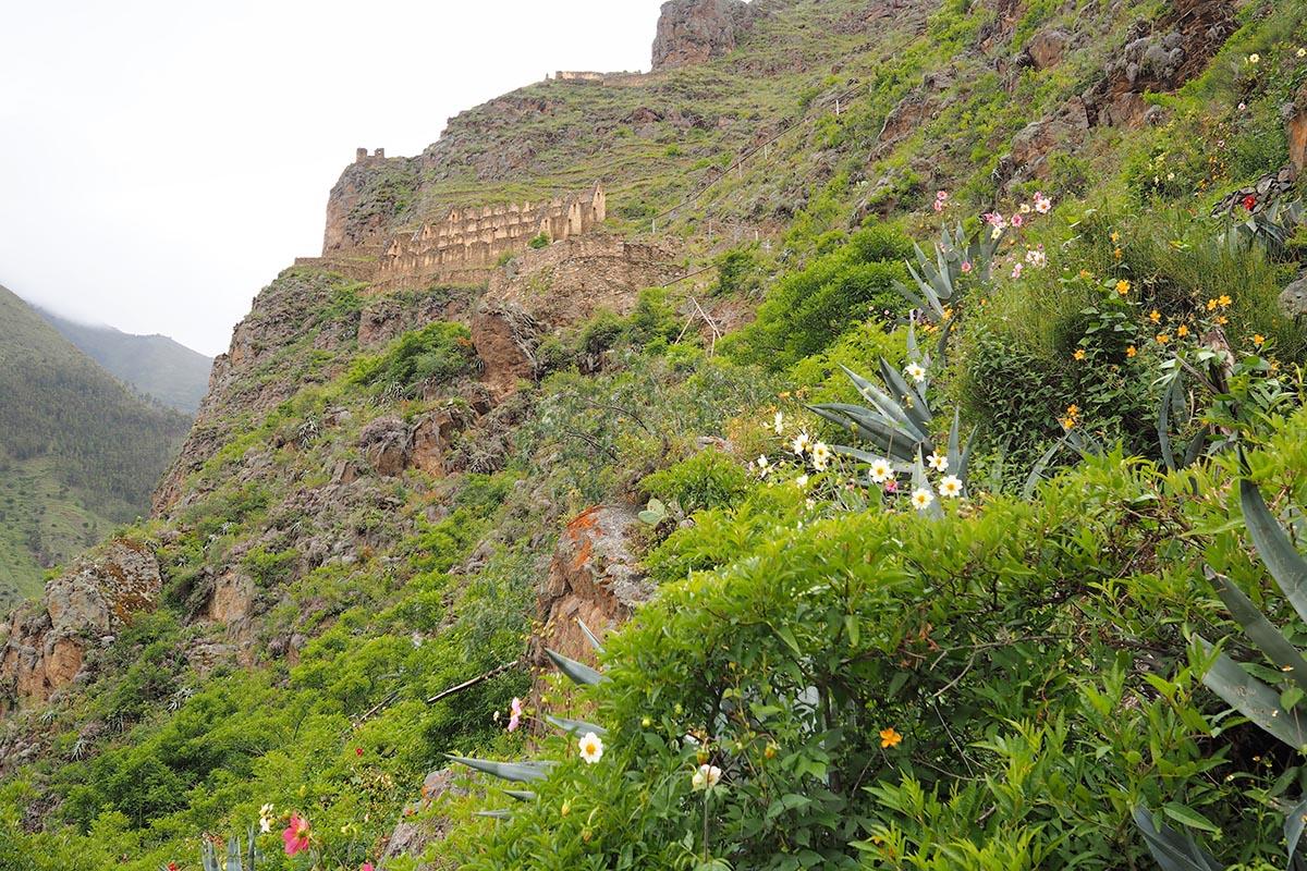 Ollantaytambo Vorratsspeicher der Inkas