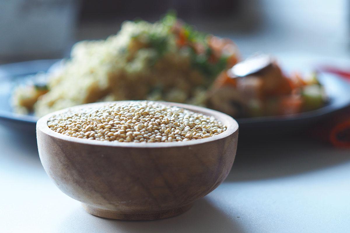 Quinoa für ein peruanisches Rezept