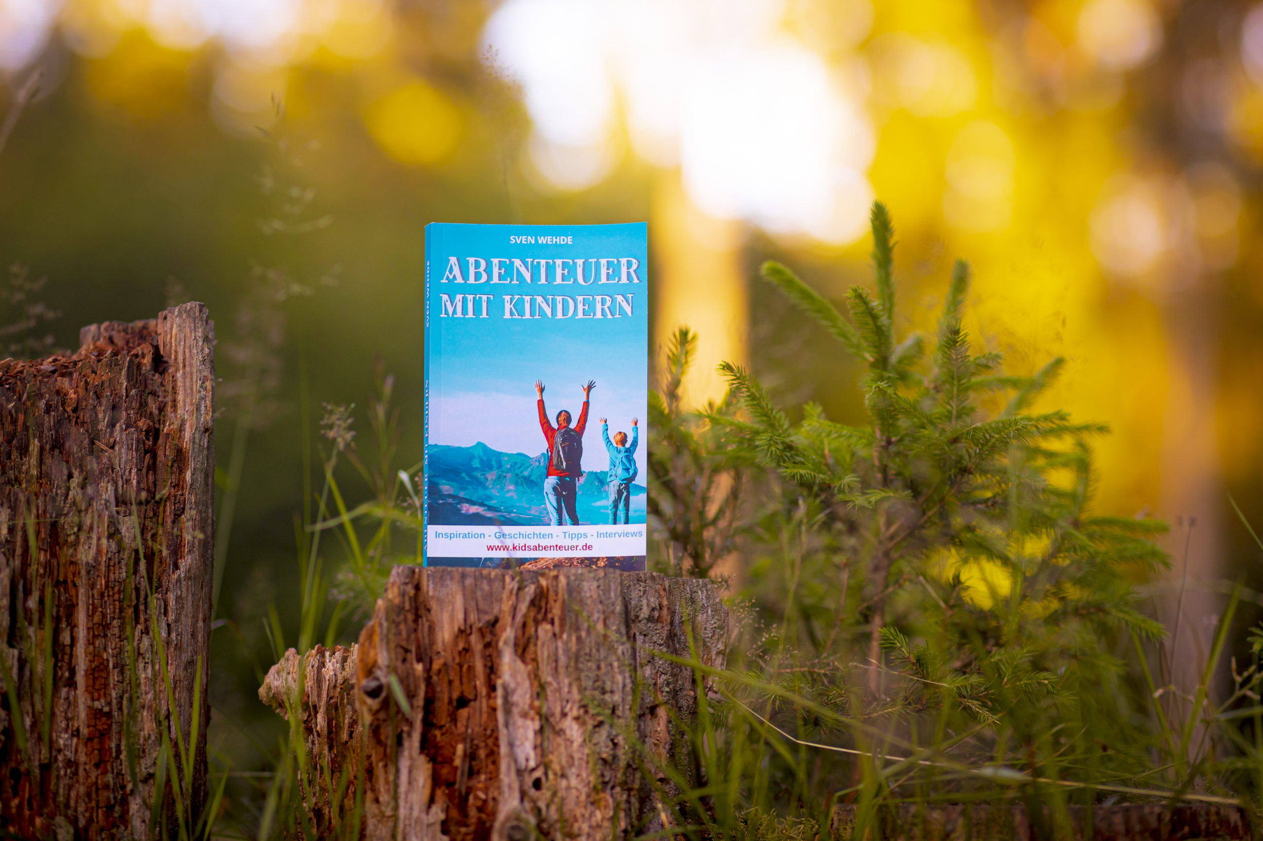 Abenteuer mit Kindern das Buch in der freien Natur
