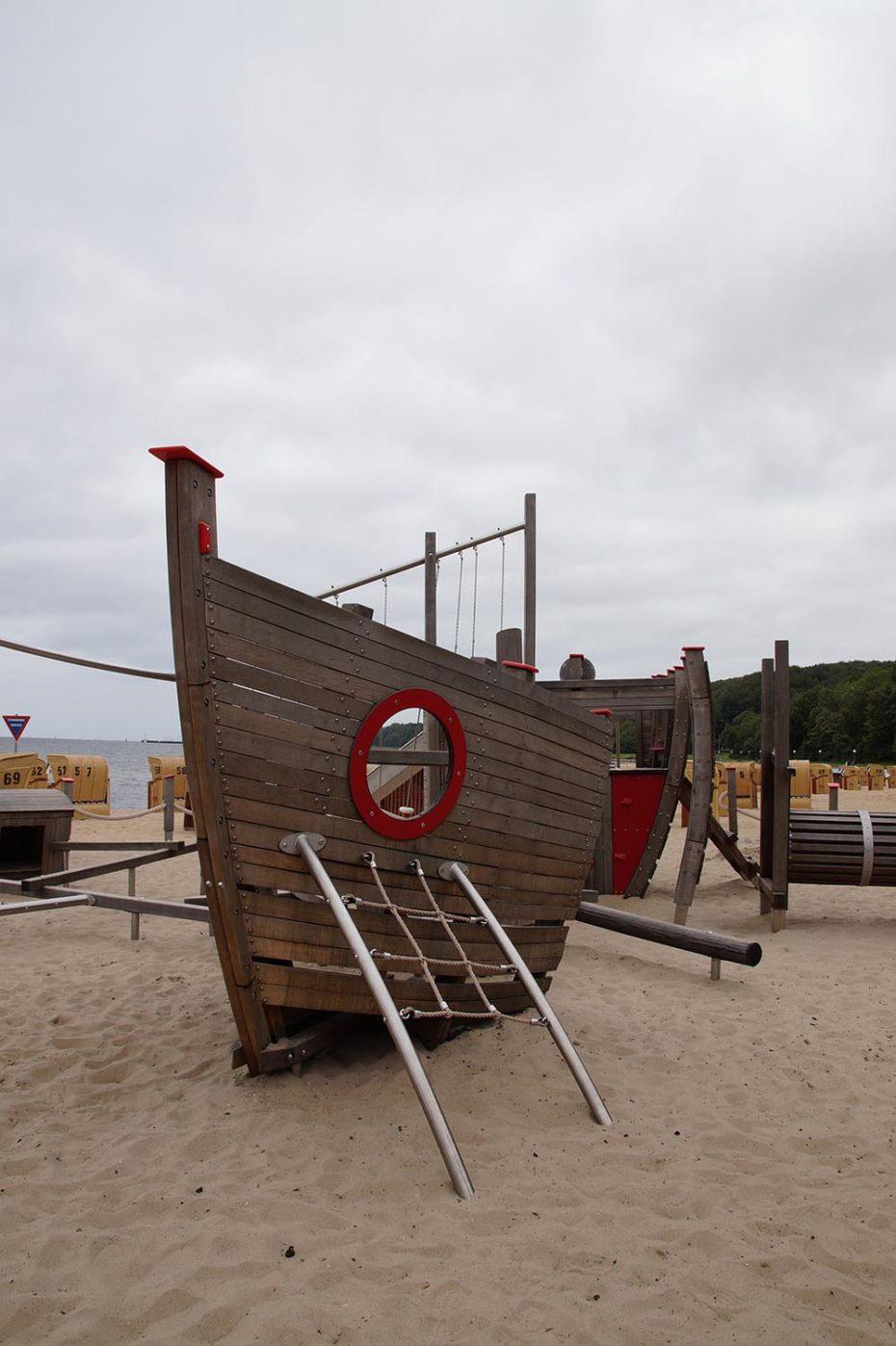 Spielplatz am Strand in Kiel